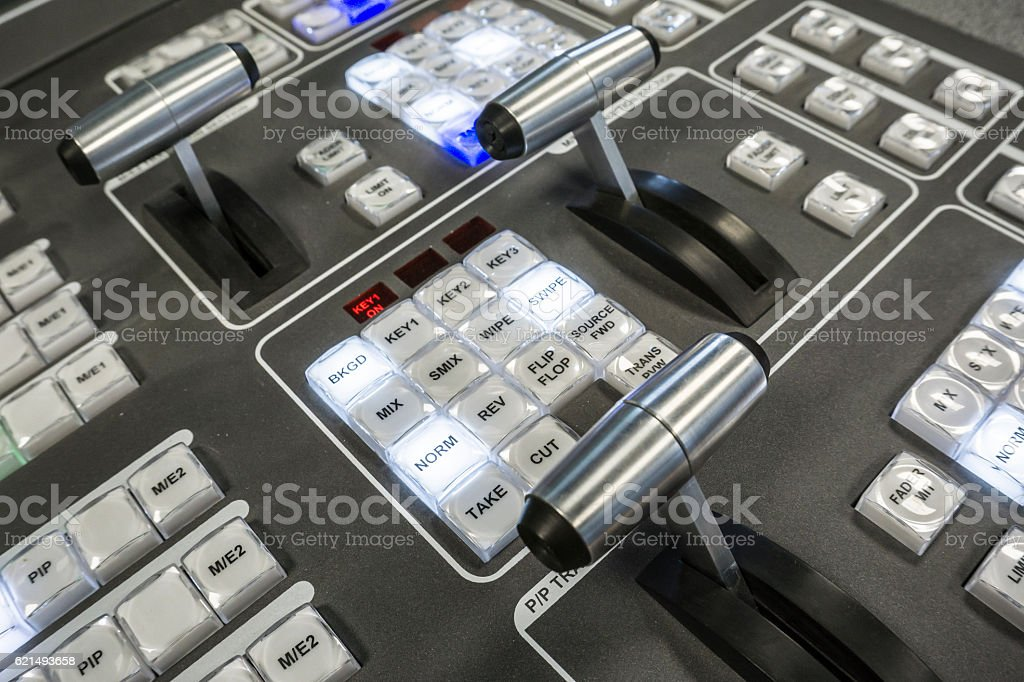 Video Production Switcher of Television Broadcast Lizenzfreies stock-foto