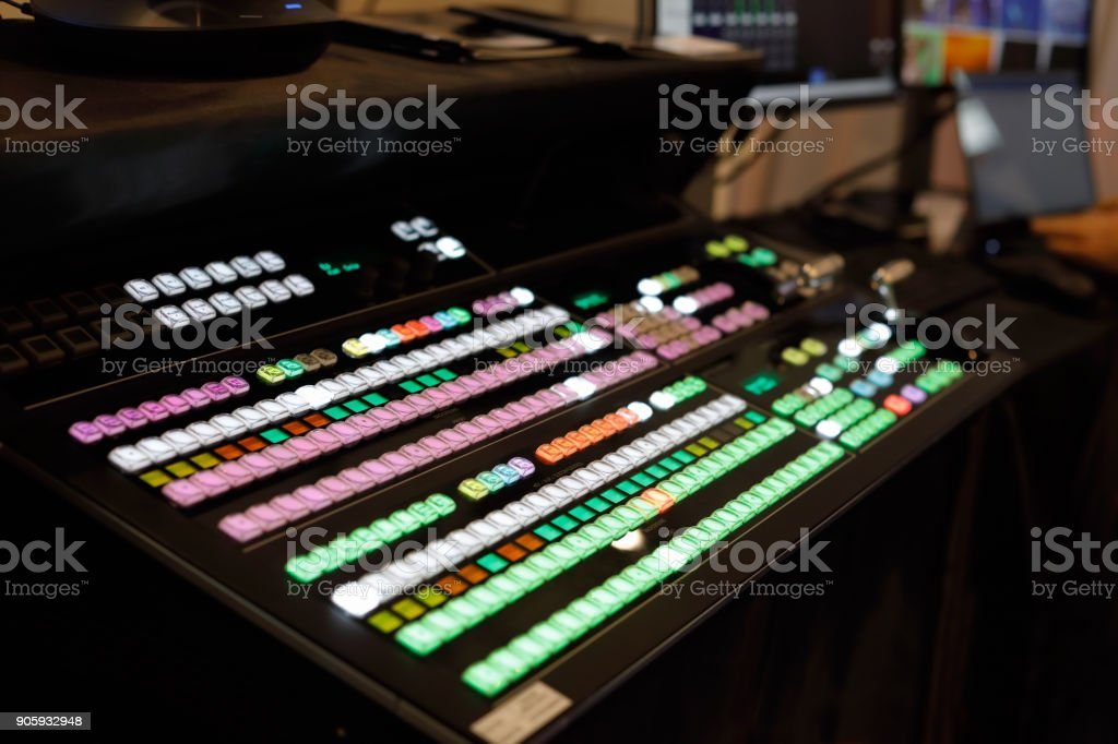 video production switcher stock photo