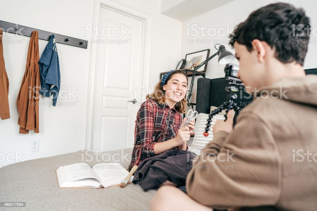 Video recording habit royalty-free stock photo