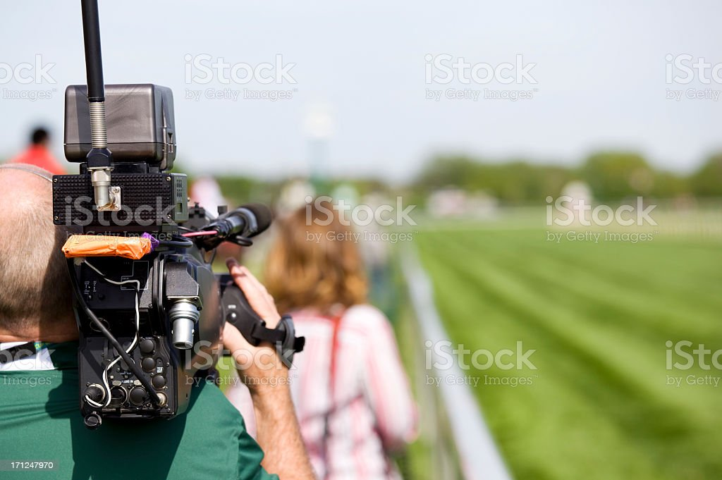 video reportage stock photo