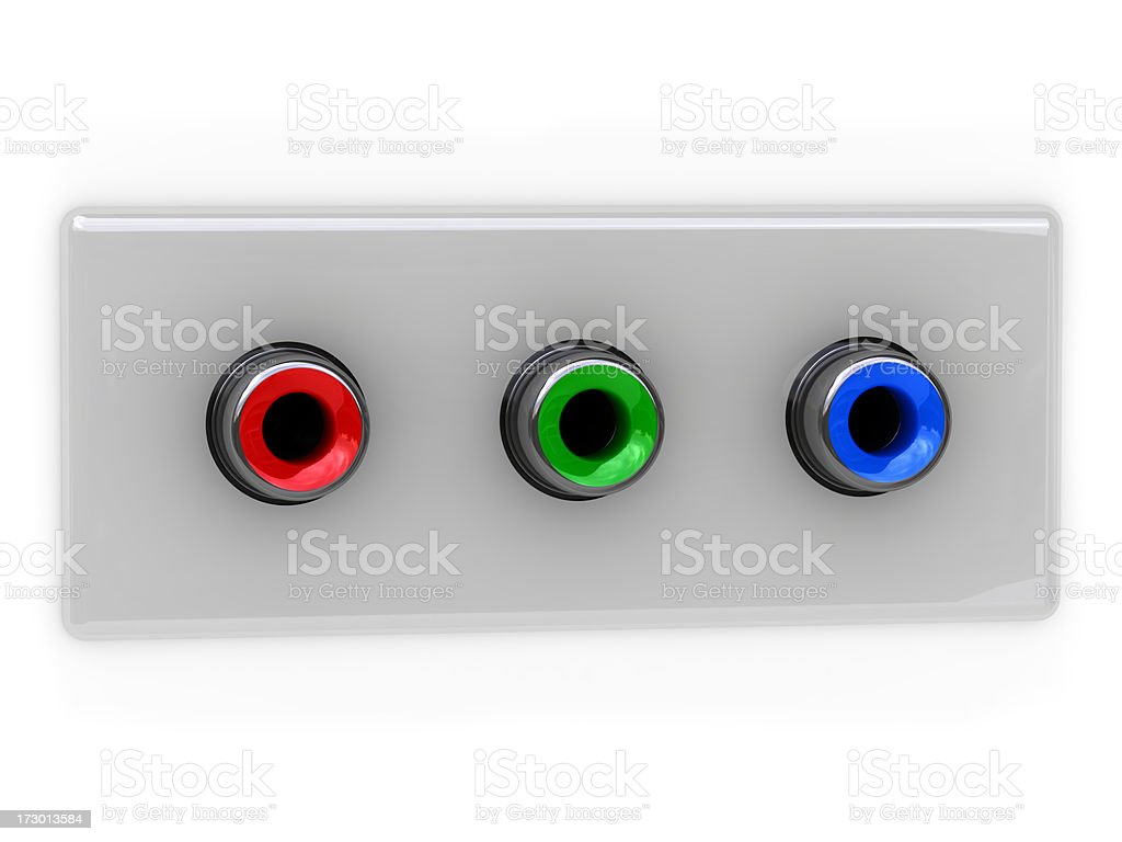 RGB video socket (for your text) royalty-free stock photo