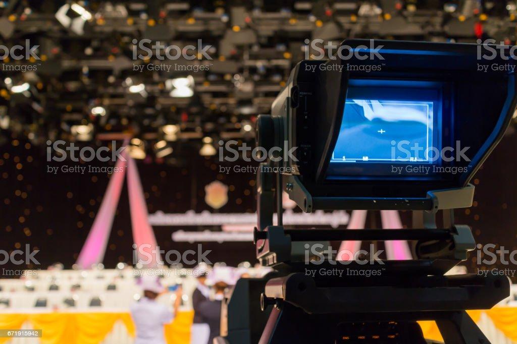 video Studio Live TV stock photo
