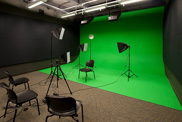 video studio - green screen background stock photos and pictures