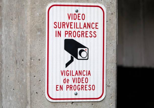 Video Surveillance in Progress stock photo