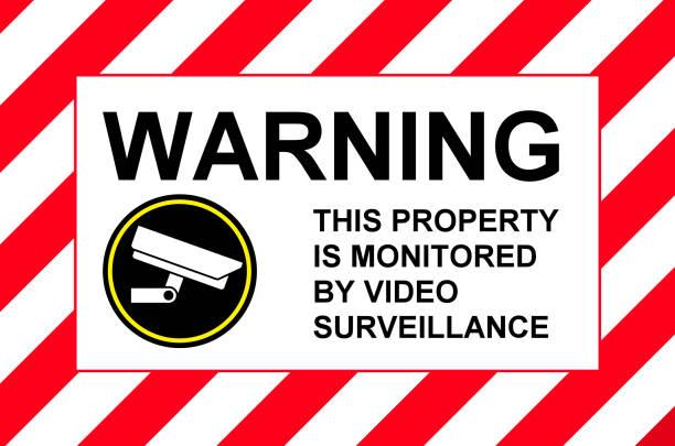 Videoüberwachung-Schild – Foto