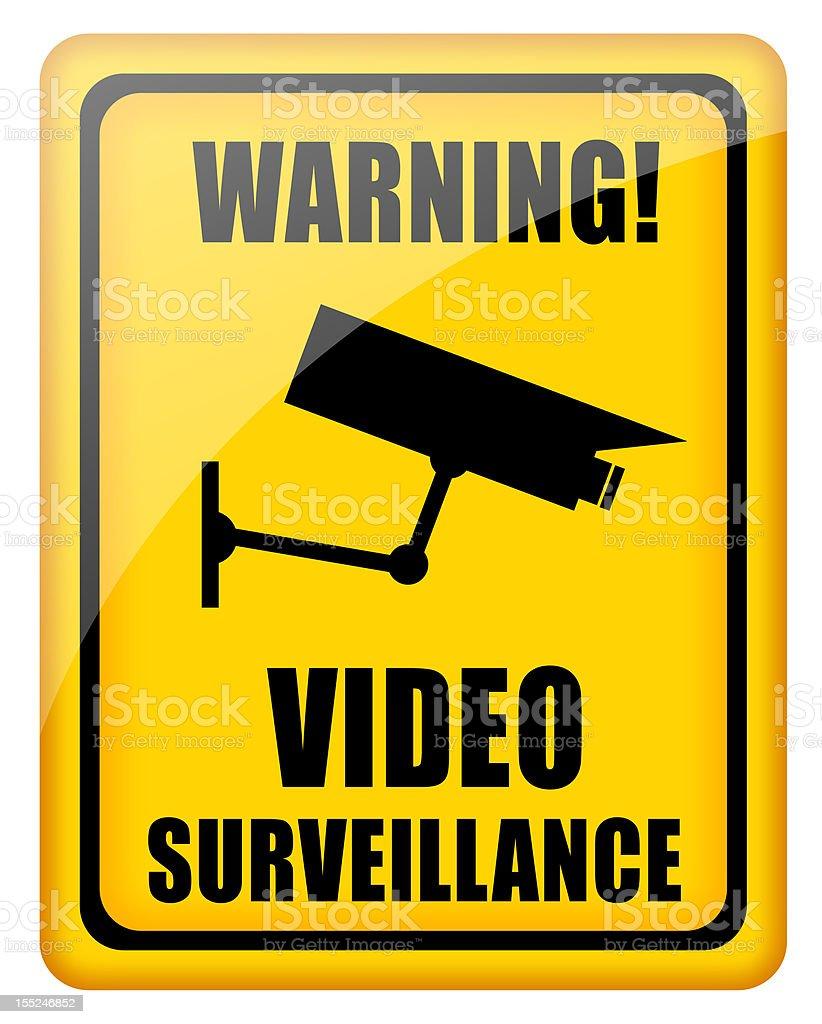 Video surveillance sign royalty-free stock photo