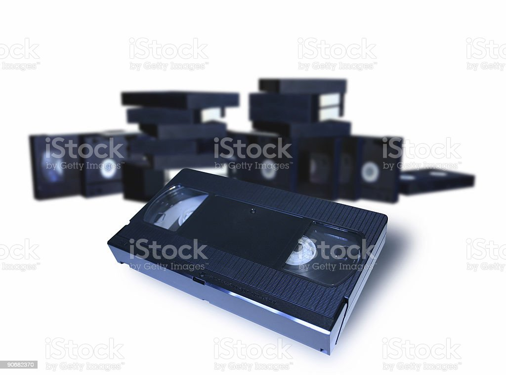 VHS Video tape royalty-free stock photo