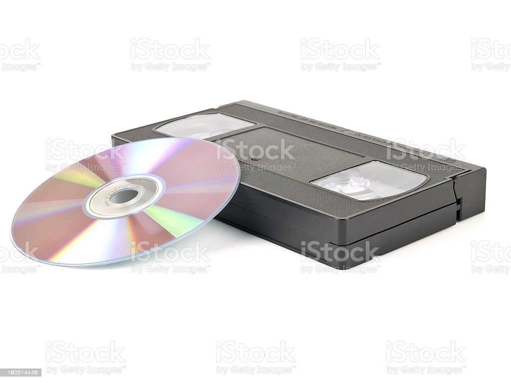 video tape w clipping path royalty-free stock photo