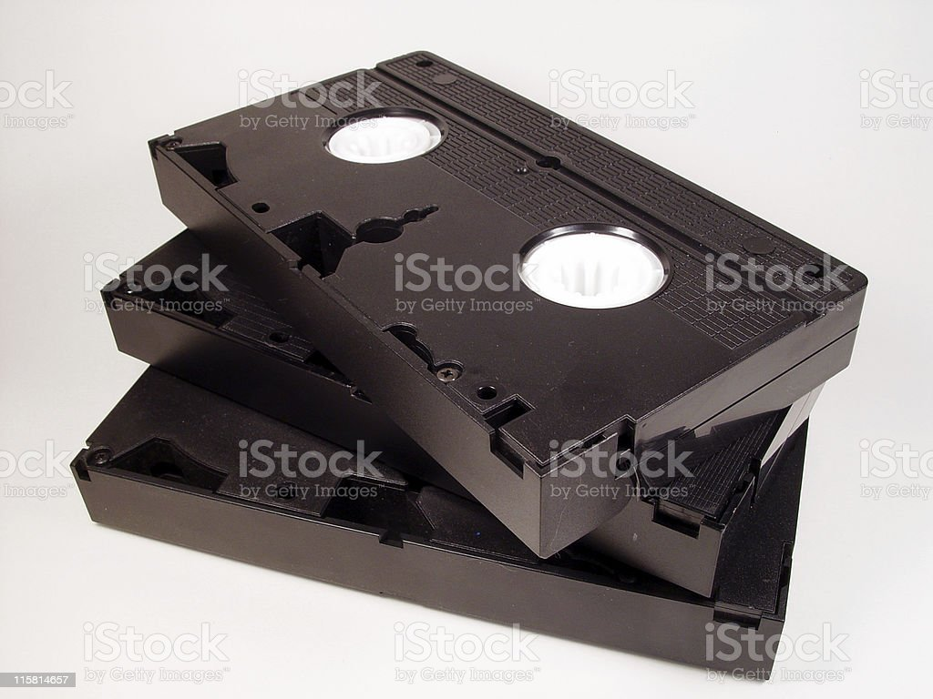 Video Tapes, Isolated royalty-free stock photo
