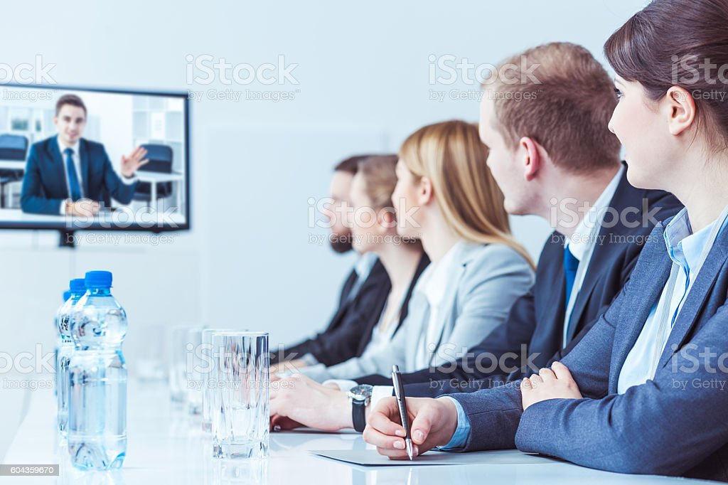 Video training for high management staff stock photo