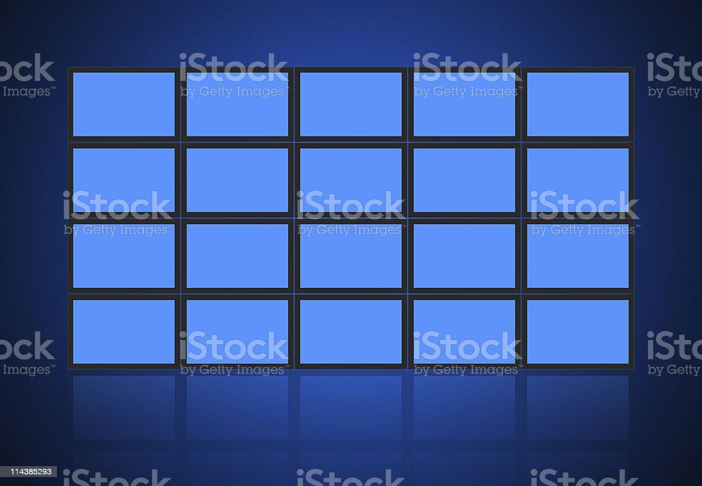 Video Wall royalty-free stock photo