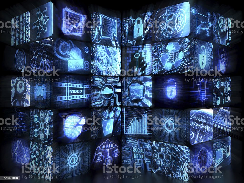 Video Wall royalty-free stock photo