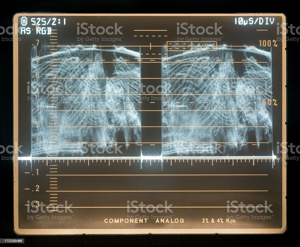 Video Waveform Monitor royalty-free stock photo