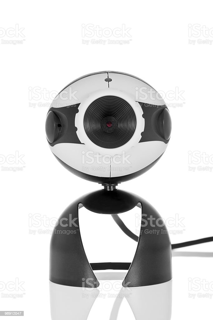 Video Webcam isolated on a white royalty-free stock photo