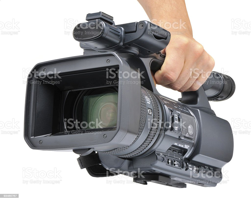 Videocamera in a hand royalty-free stock photo