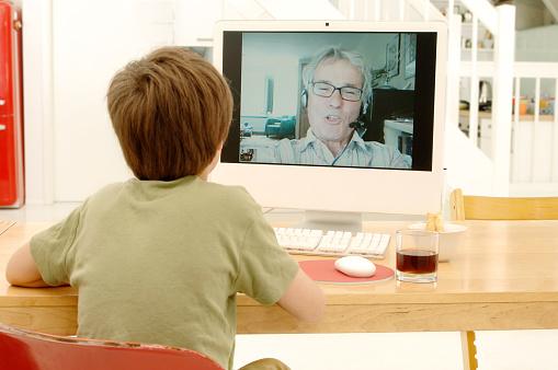 istock Videochatting with Granddad 157375556