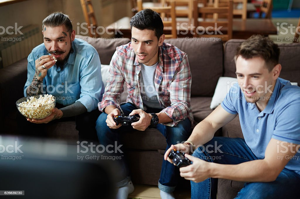Video-game addiction stock photo