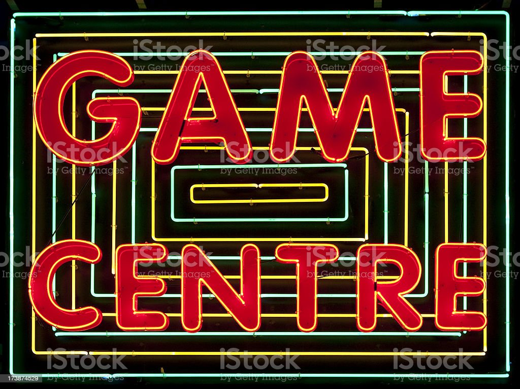 Videogame Arcade Neon Sign royalty-free stock photo