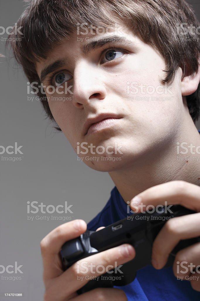 Video-Gamer stock photo