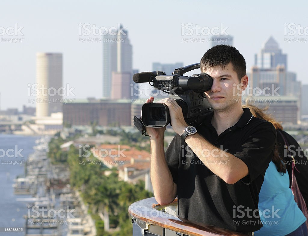 Videographer royalty-free stock photo