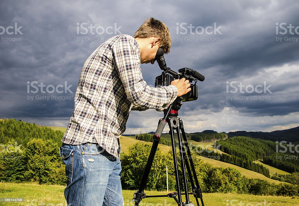 Videographer stock photo