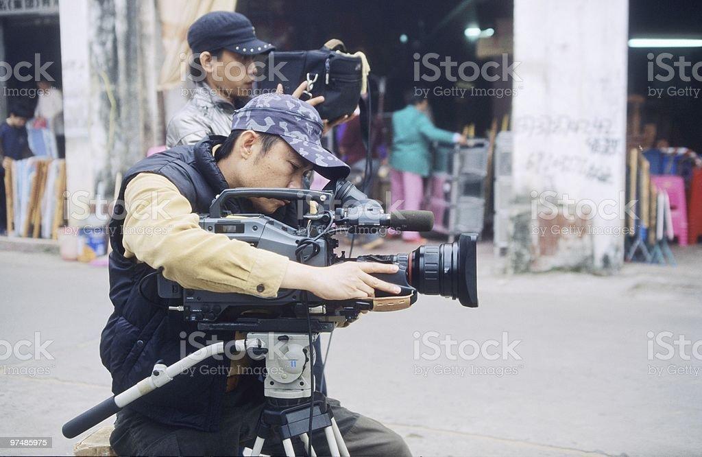 Videographers royalty-free stock photo