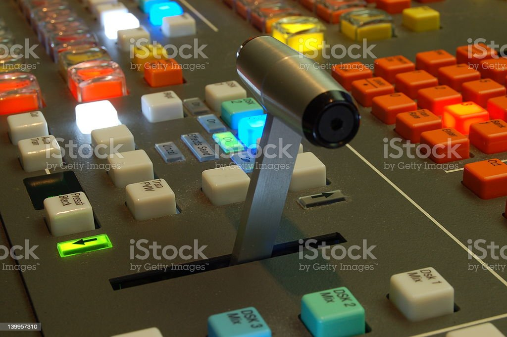 Videomixer stock photo