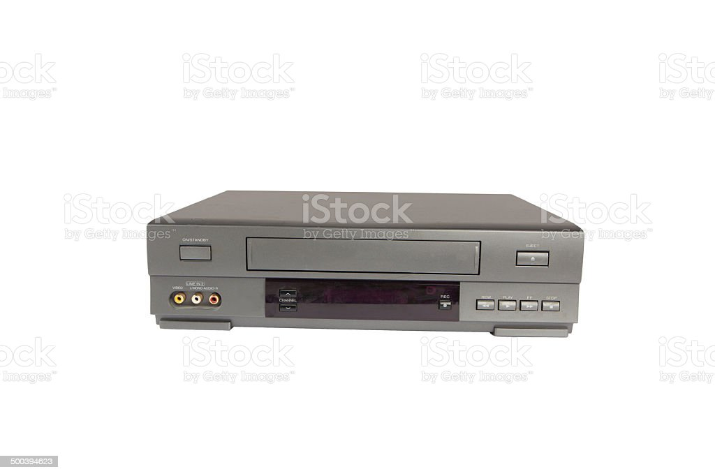 videorecorder isolated on white background stock photo