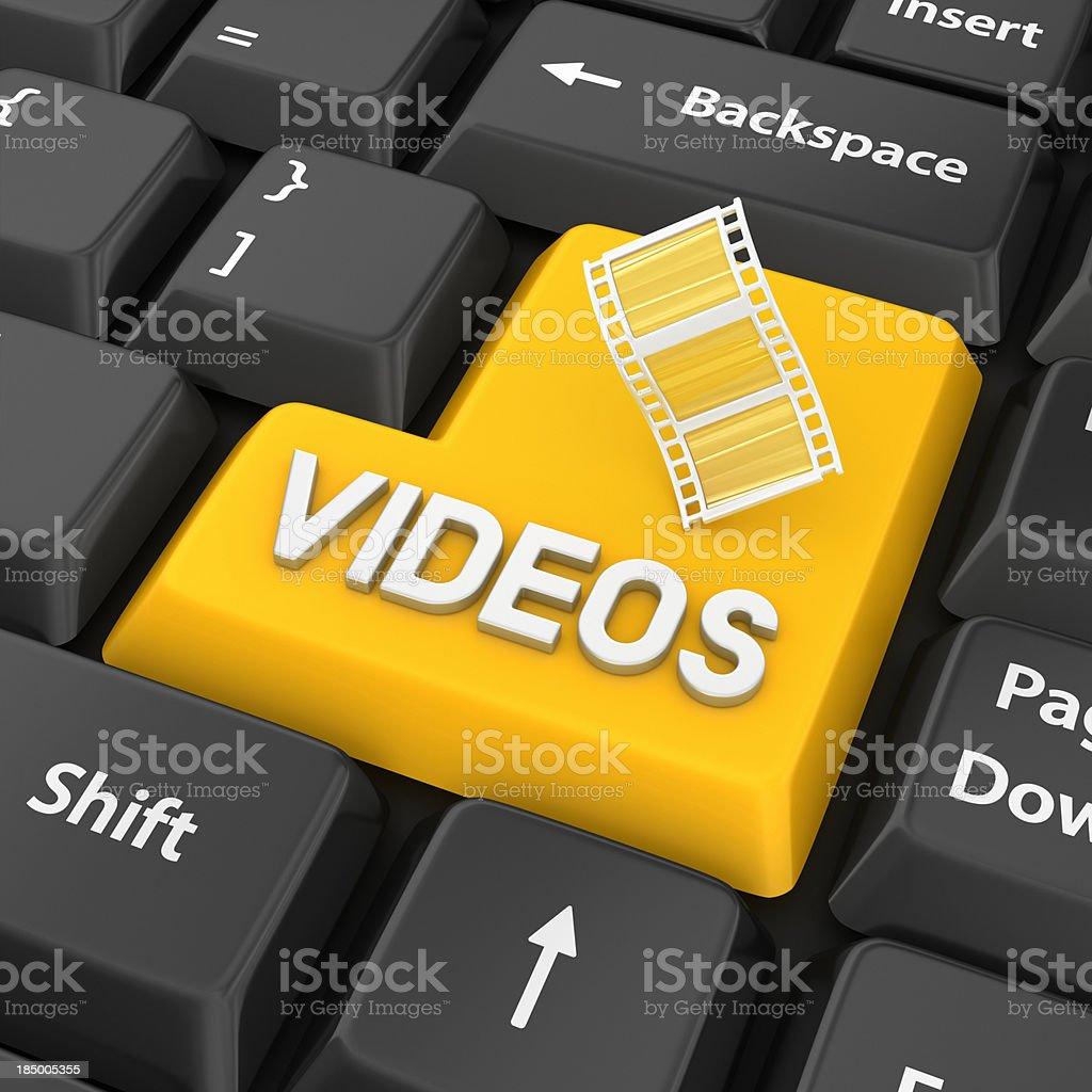 videos enter key stock photo