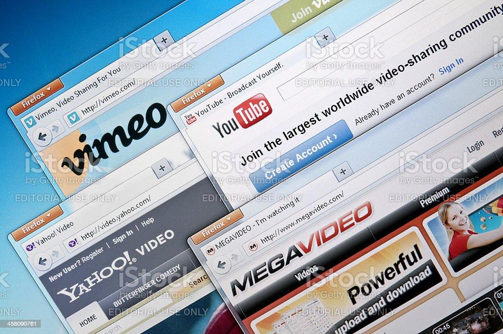 Video-sharing websites stock photo