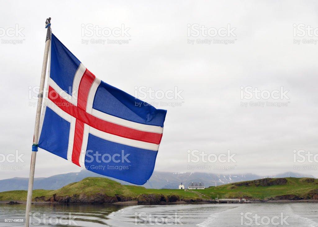Ilha de Videy, na Islândia - foto de acervo