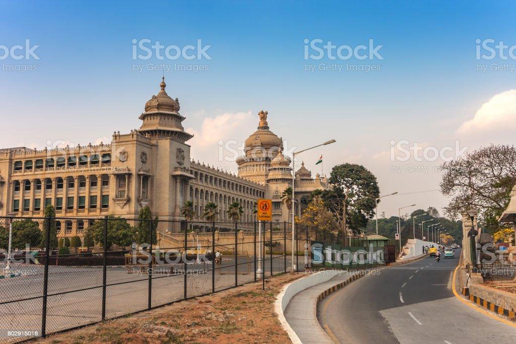Vidhana Soudha the Bangalore State Legislature Building, Bangalore, India stock photo