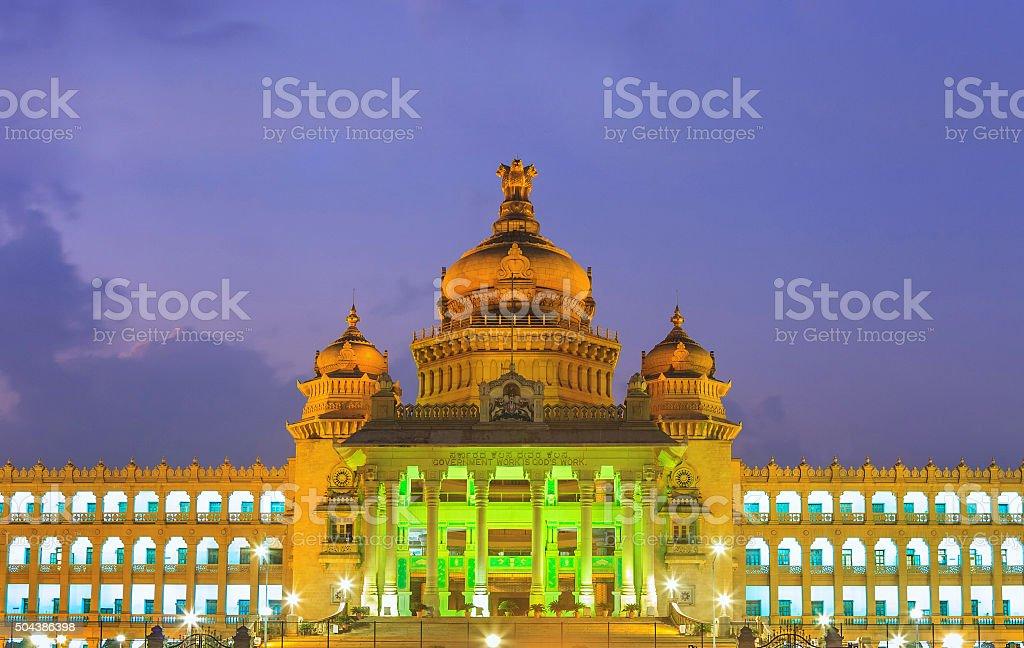 Vidhana Soudha the state legislature building - Bangalore - Indi stock photo