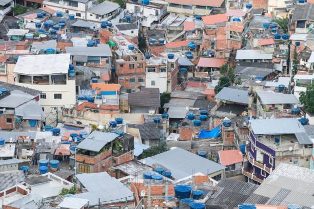 Vidigal Favela in Rio de Janeiro, Brazil stock photo