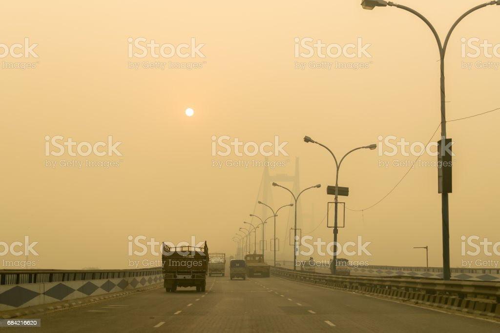 Vidyasagar Setu - second Hoogly Bridge royalty-free stock photo