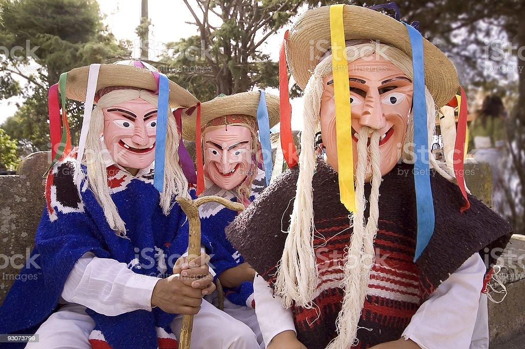 """Viejito"" or Old Men Masks royalty-free stock photo"