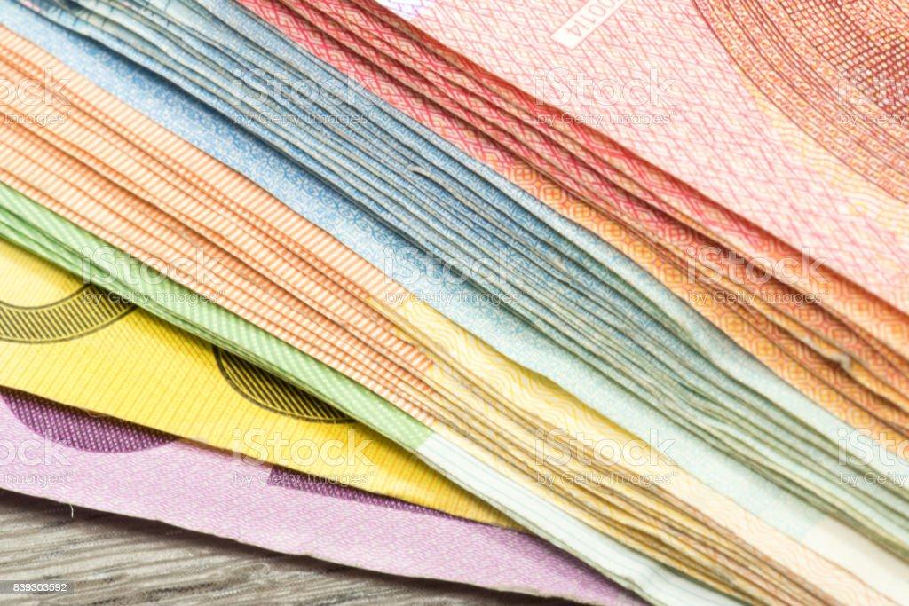 Viele Euro-Geldscheine – Foto