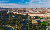 Vienna Aerial Hofburg heldenplatz Austrian National Library