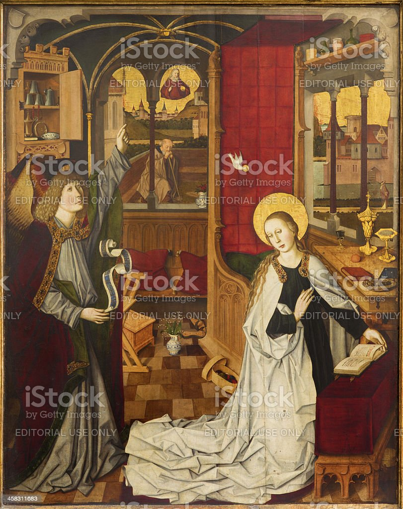 Vienna - Annunciation from church Maria Am Gestade stock photo