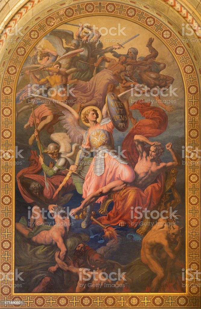 Vienna - Archangel Michael and war with the bad angels stock photo