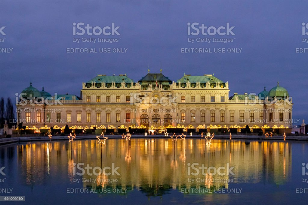 Vienna At Christmas The Belvedere Austria Stock Photo Download Image Now Istock