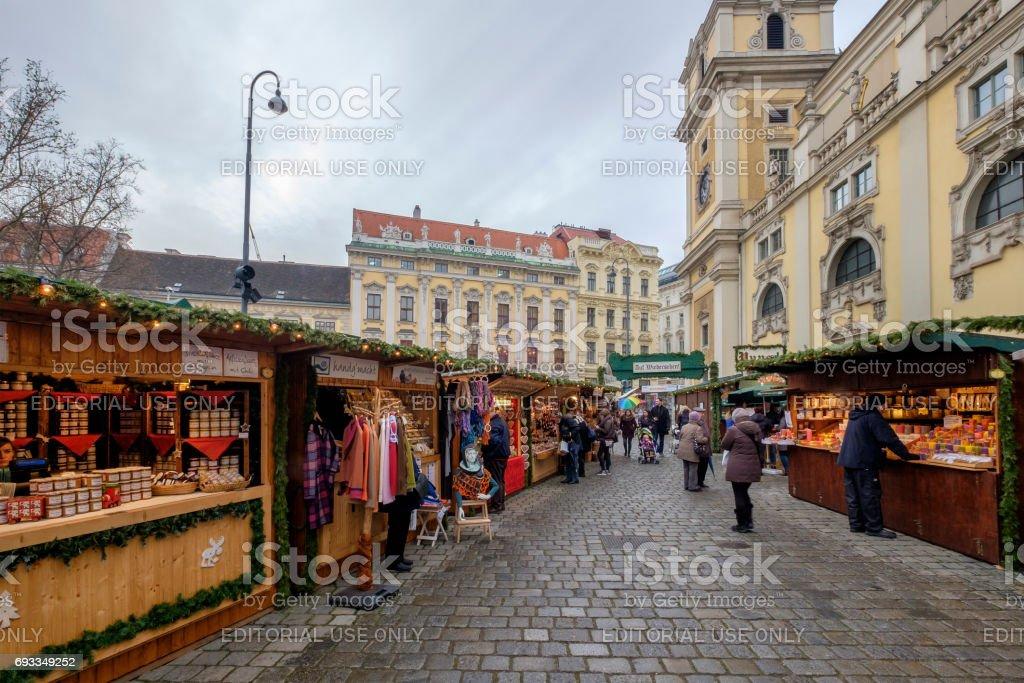 Vienna at Christmas, the Freyung - Austria stock photo