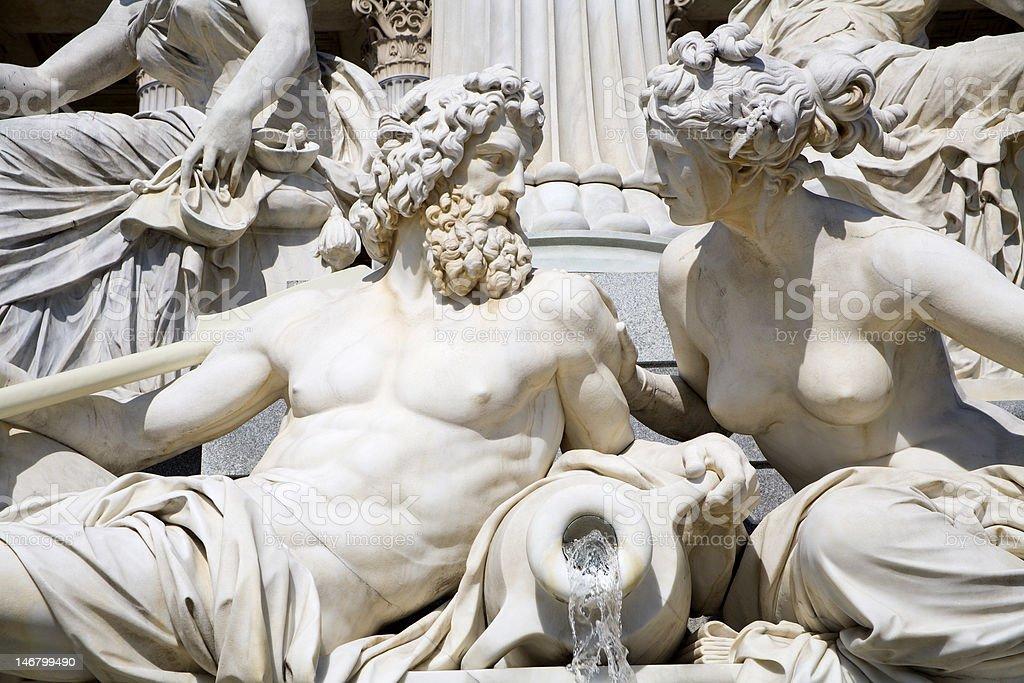 Vienna - Athena fountain stock photo