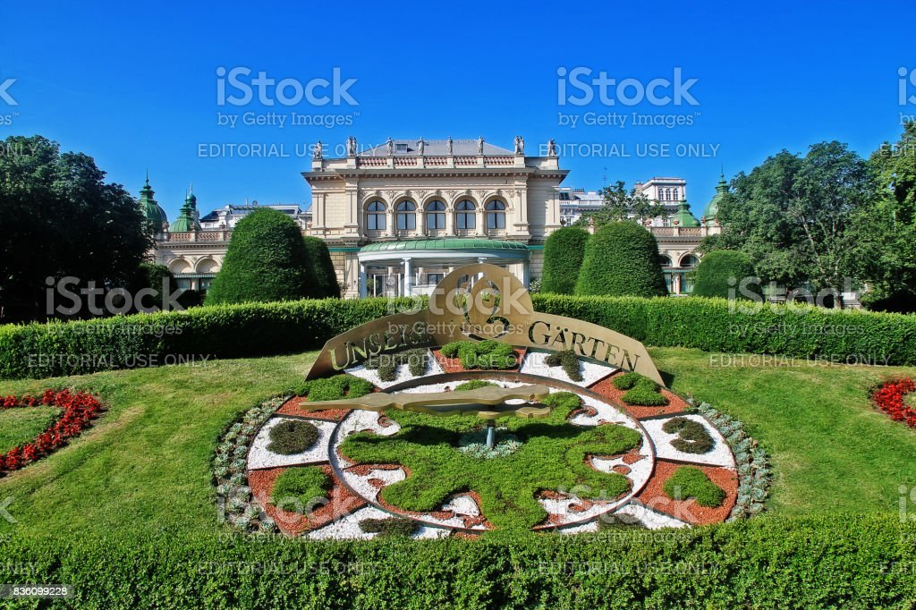 Vienna (Wien), Austria (Osterreich) - June 24, 2017 - Kursalon (Kursalon Hubner), a music hall in Stadtpark (City Park) designed by Johann Garben in the style of the Italian Renaissance and built between 1865 and 1867 stock photo