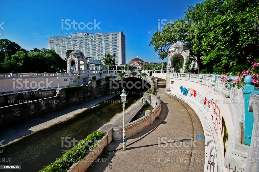Vienna (Wien), Austria (Osterreich) - June 24, 2017 - Stadtpark (City Park), the park in Vienna that be divided in two sections by the Wienfluss (Vienna River) stock photo