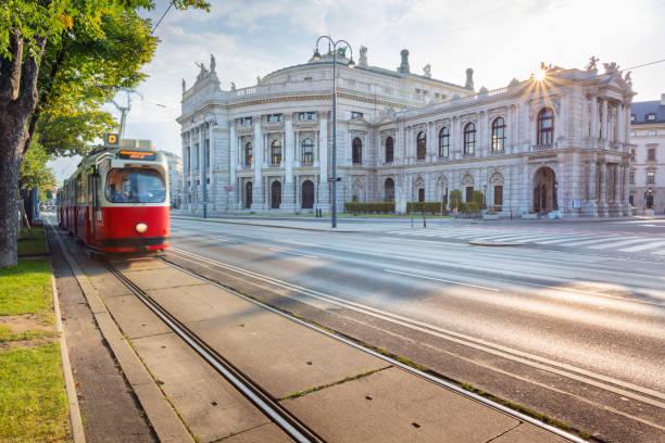 vienna, austria. - linea tranviaria foto e immagini stock