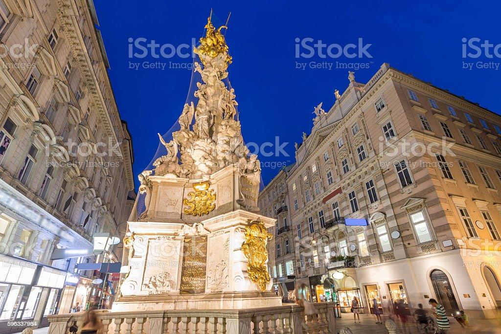 Vienna, Austria Plague Monument Lizenzfreies stock-foto