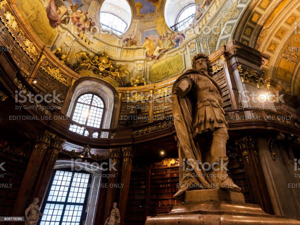 Vienna, Austrian National Library stock photo