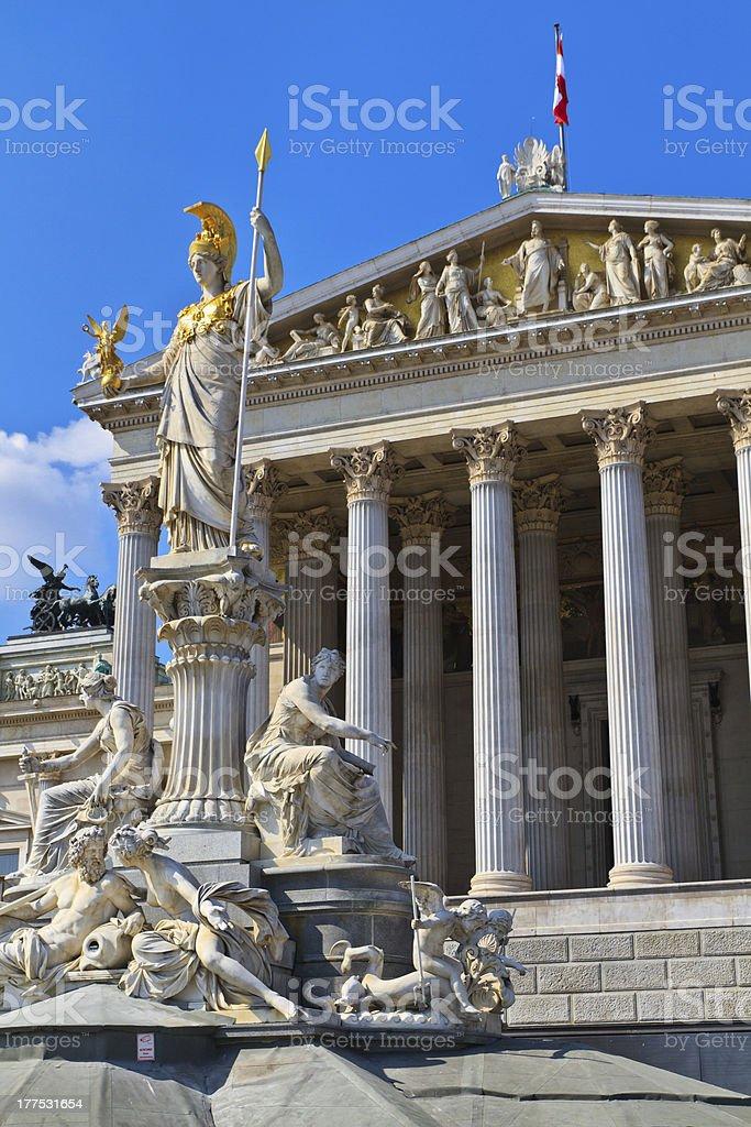 Vienna - Austrian Parliament Building royalty-free stock photo