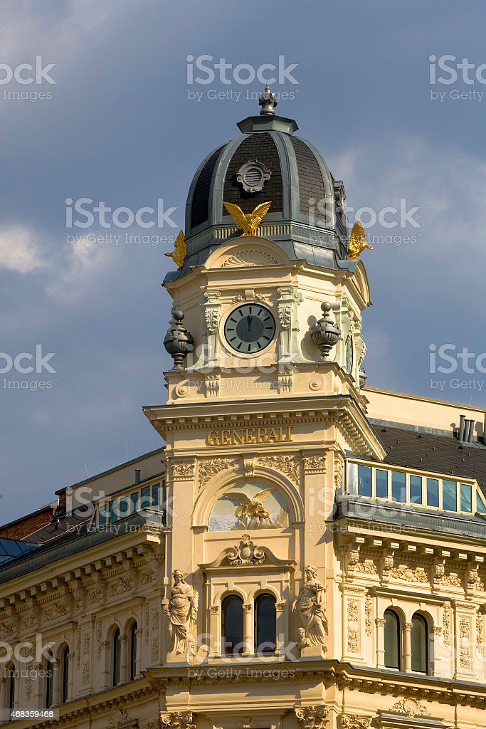 Vienna Building Corner royalty-free stock photo